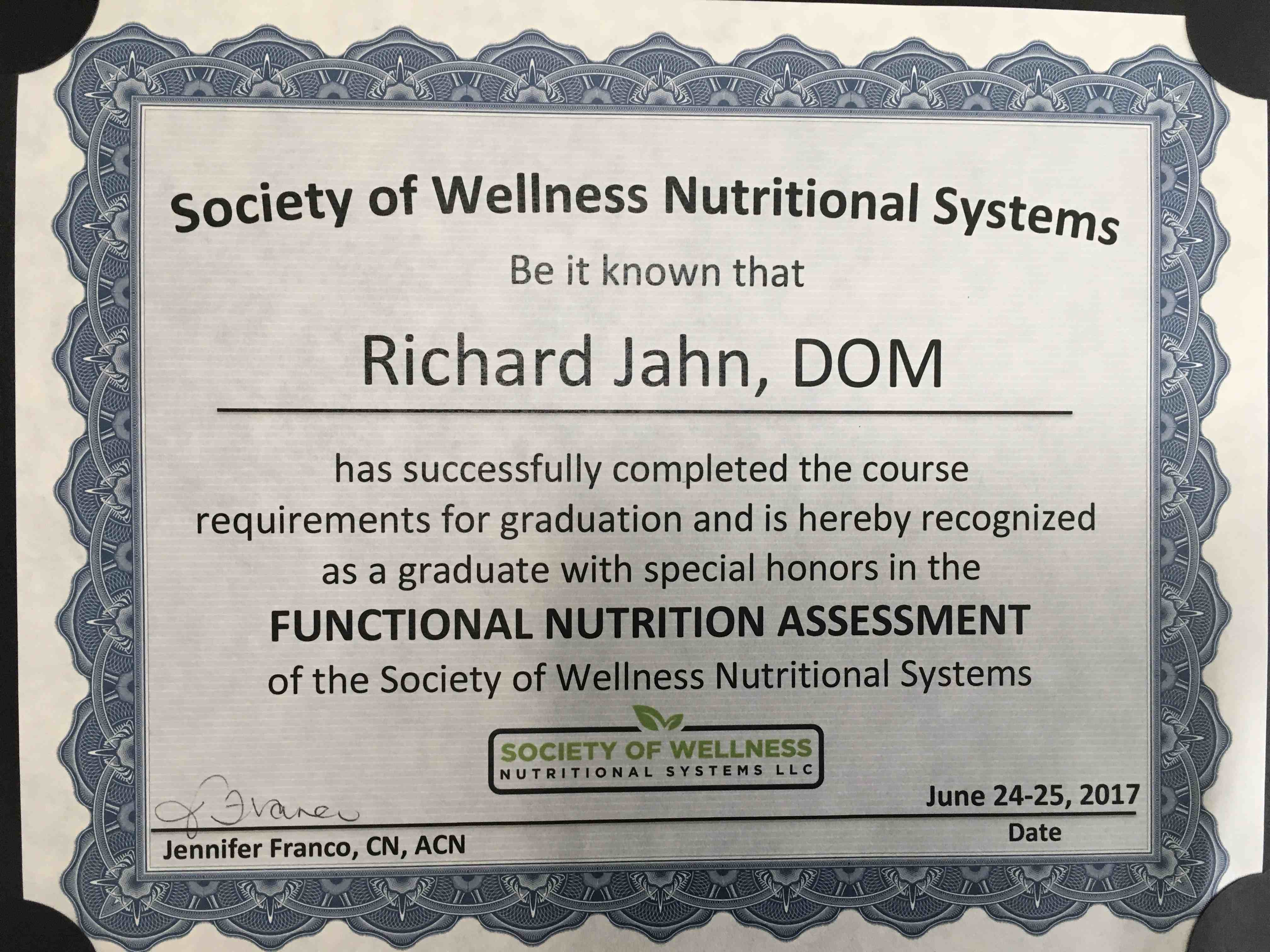 100 Nutrition Response Testing Experience About